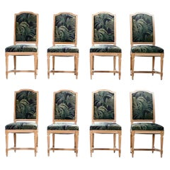Set of 8 French Louis XV Style Chairs by Maison Romeo, 1950s