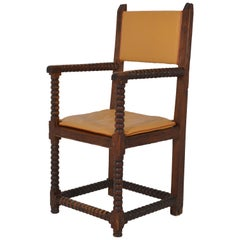 Set of 8 French Oak Armchairs, 17th Century