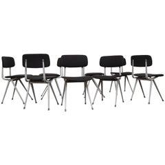 "Set of 8 Friso Kramer Upholstered ""Result"" Chairs"
