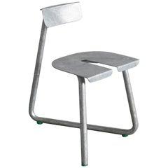 Set of 8 Galva Steel Outdoor Chairs by Atelier Thomas Serruys