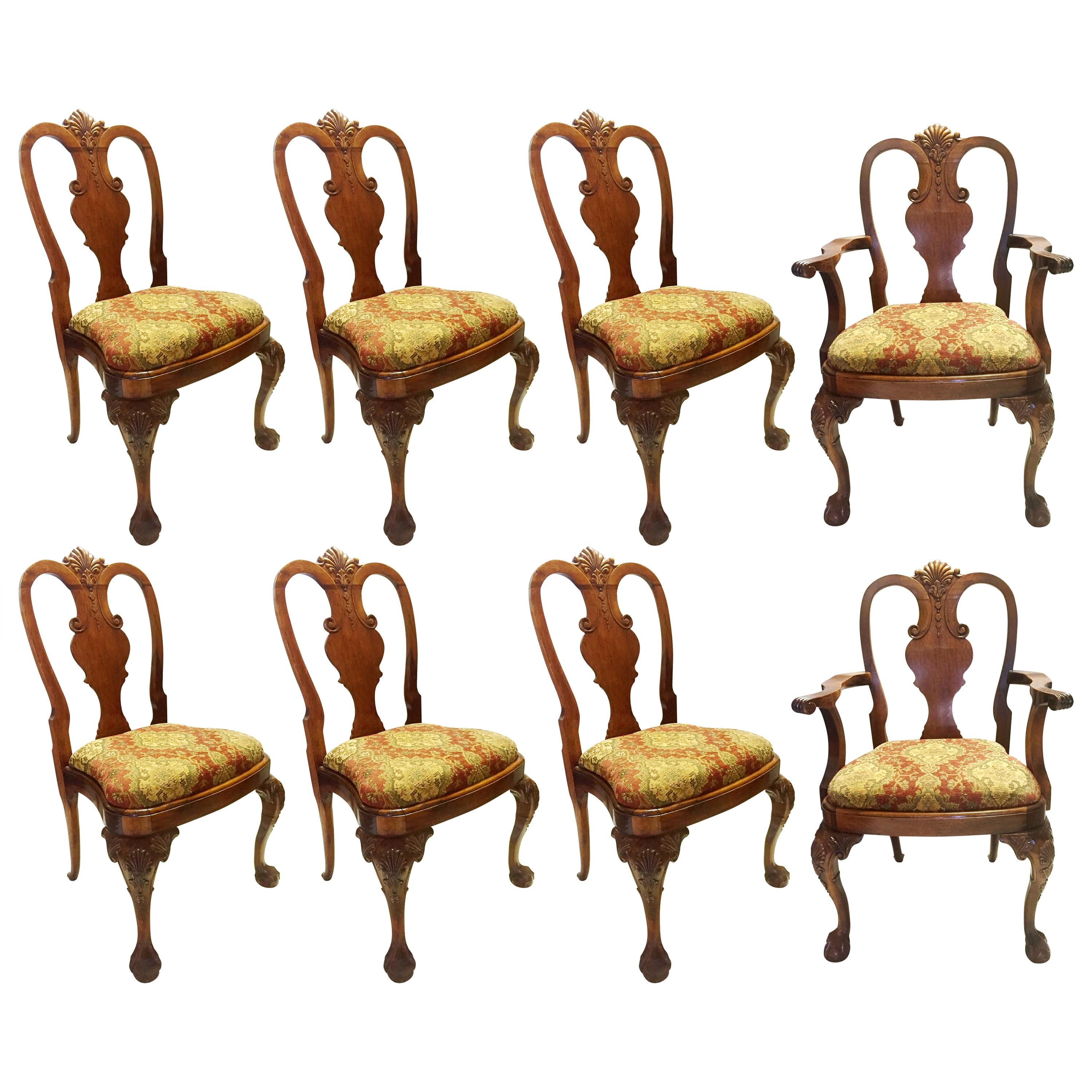 Set of 8 George II Style Dining Chairs