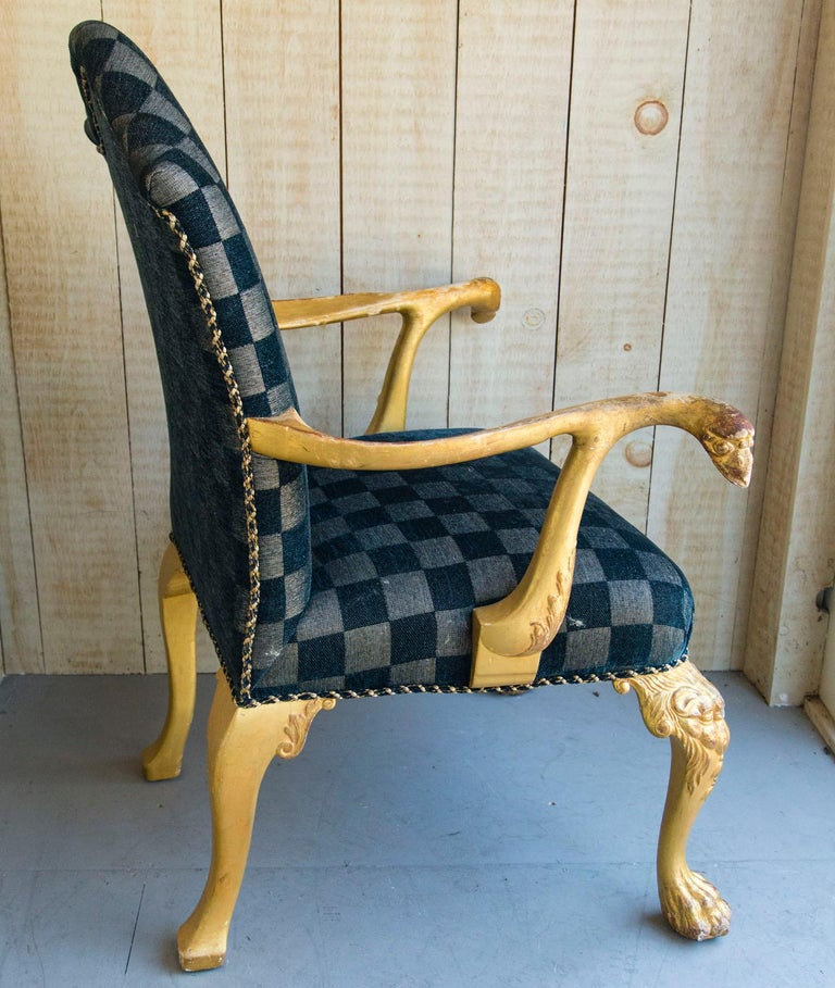 Set of 8 Giltwood George I Style Dining Chairs For Sale 4