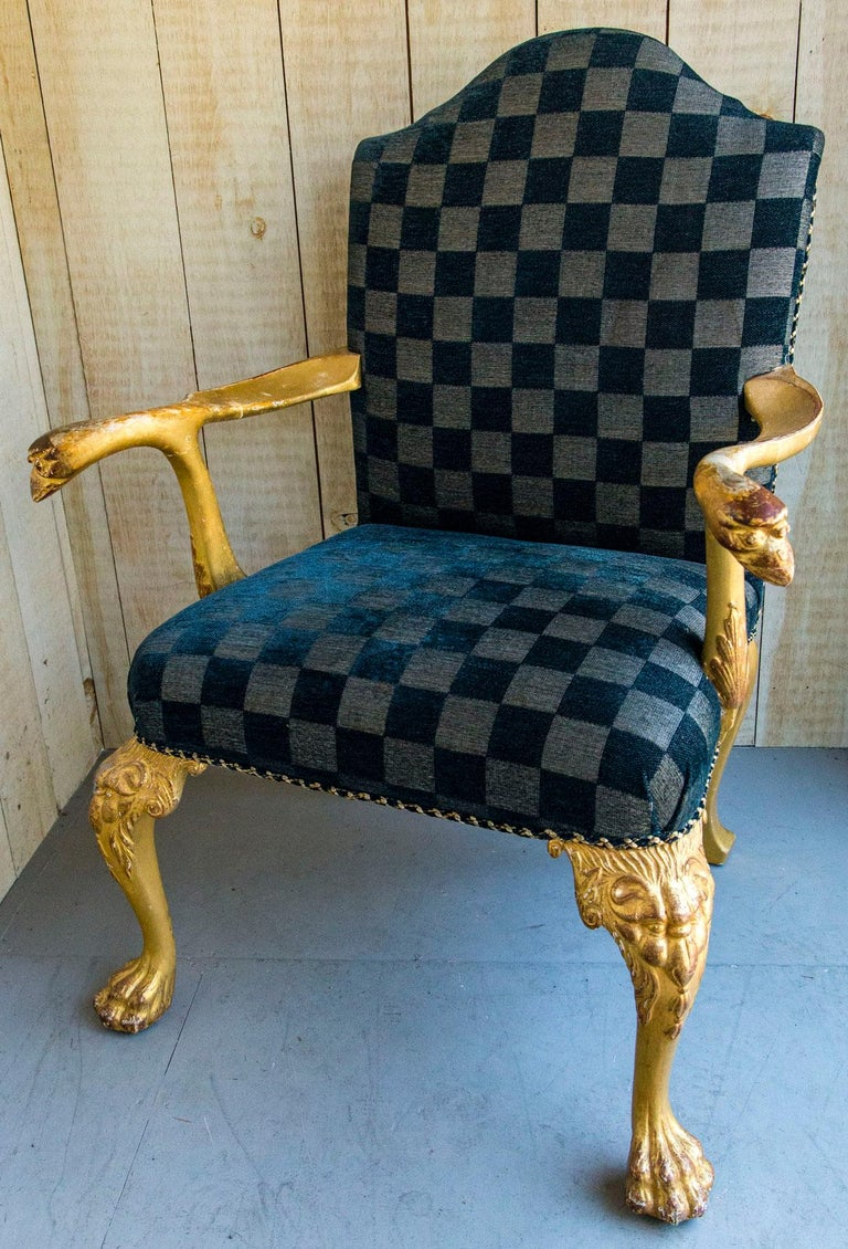Set of 8 Giltwood George I Style Dining Chairs For Sale 1