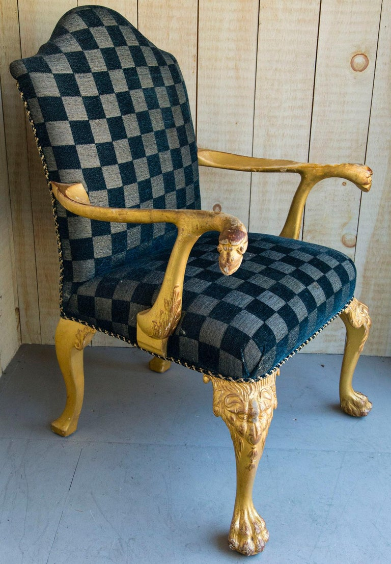 Set of 8 Giltwood George I Style Dining Chairs For Sale 3