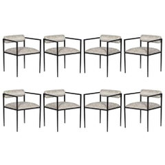 Set of 8 Harlowe Iron Dining Chairs