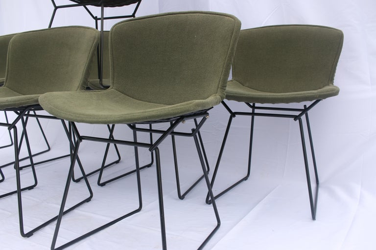 Mid-Century Modern Set of 6 or 8 Harry Bertoia for Knoll Wire Chairs, 1960s-1970s For Sale