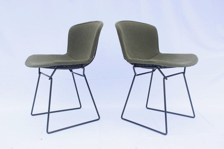 American Set of 6 or 8 Harry Bertoia for Knoll Wire Chairs, 1960s-1970s For Sale