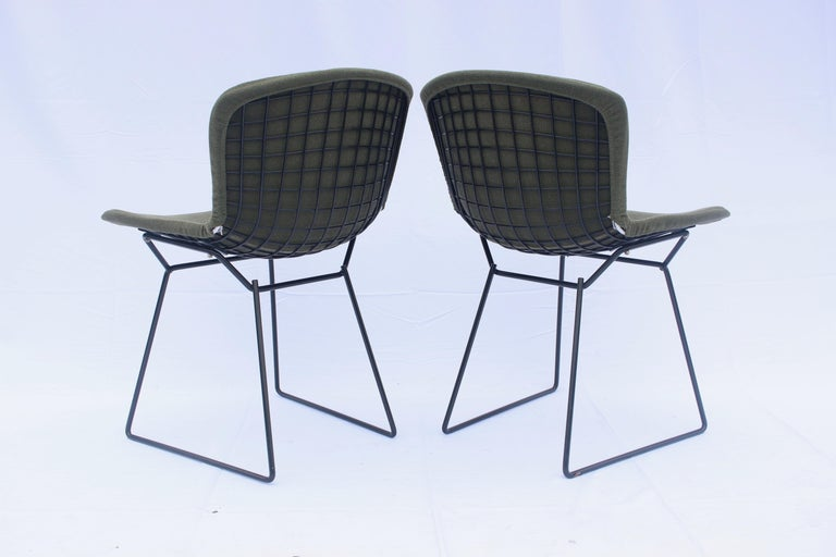 Set of 6 or 8 Harry Bertoia for Knoll Wire Chairs, 1960s-1970s In Good Condition For Sale In London, GB