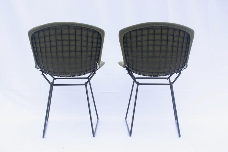 Fabric Set of 6 or 8 Harry Bertoia for Knoll Wire Chairs, 1960s-1970s For Sale