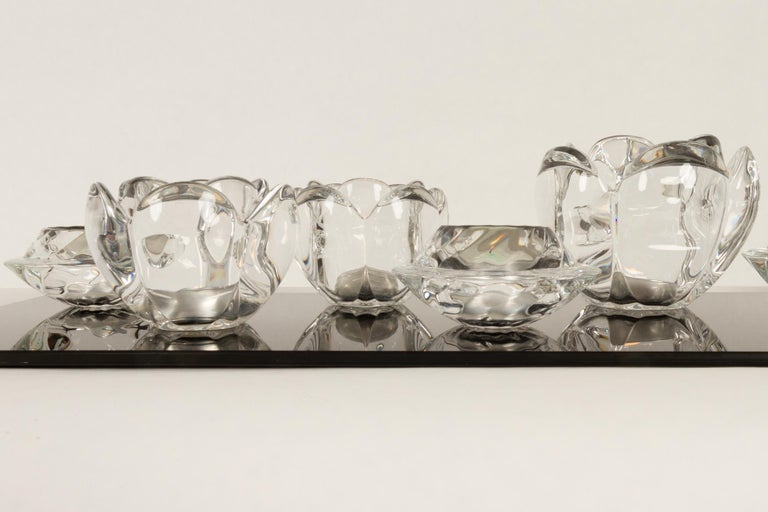 Set of 8 Holmegaard Glass Candleholders, 1980s  For Sale 4