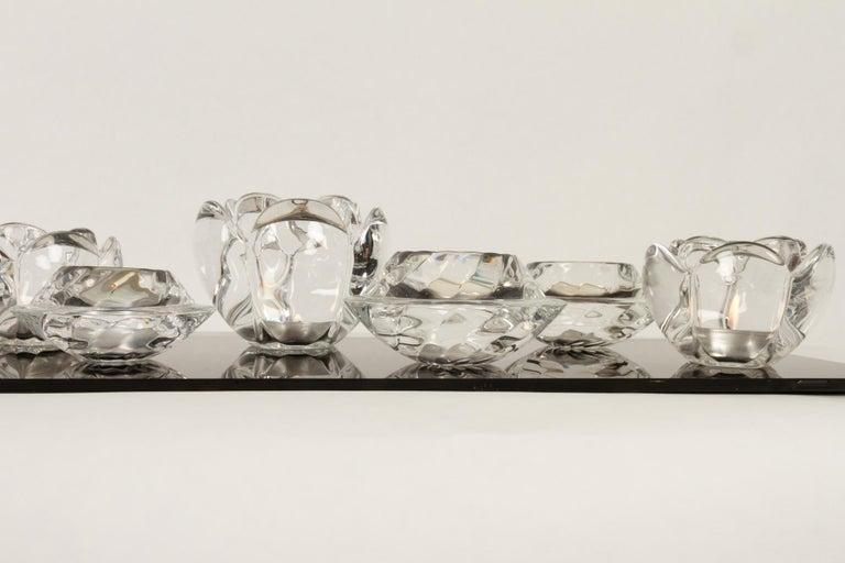 Set of 8 Holmegaard Glass Candleholders, 1980s  For Sale 5