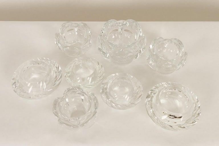 Set of 8 Holmegaard Glass Candleholders, 1980s  For Sale 8