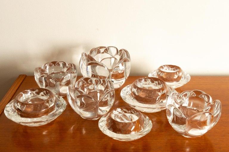 Set of 8 Holmegaard Glass Candleholders, 1980s  For Sale 14