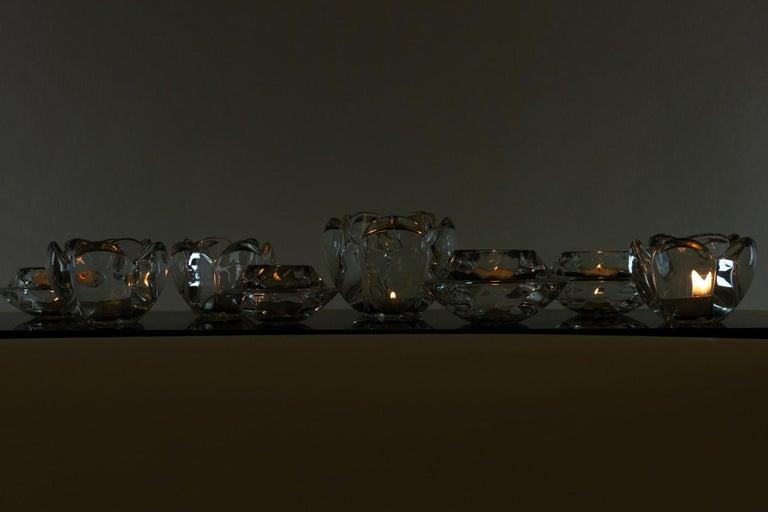 Set of 8 Holmegaard Glass Candleholders, 1980s  For Sale 1