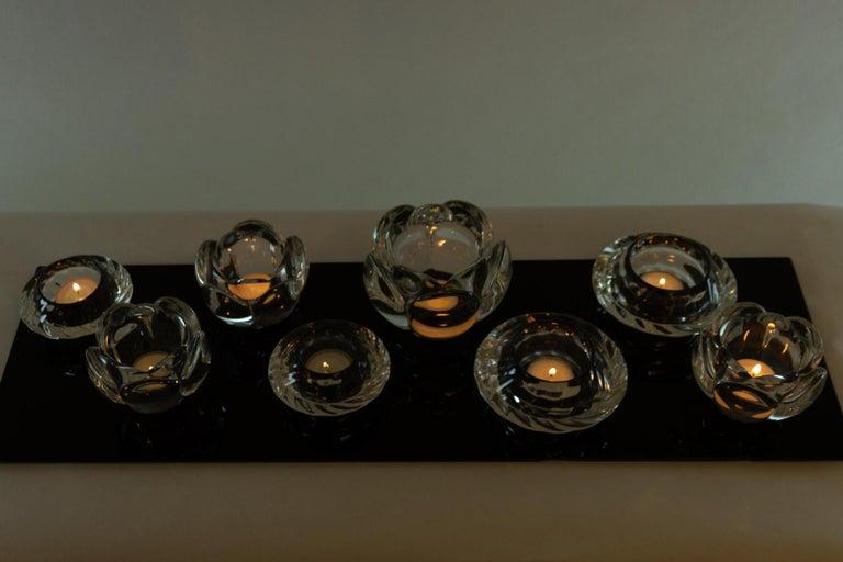Set of 8 Holmegaard Glass Candleholders, 1980s  For Sale 2