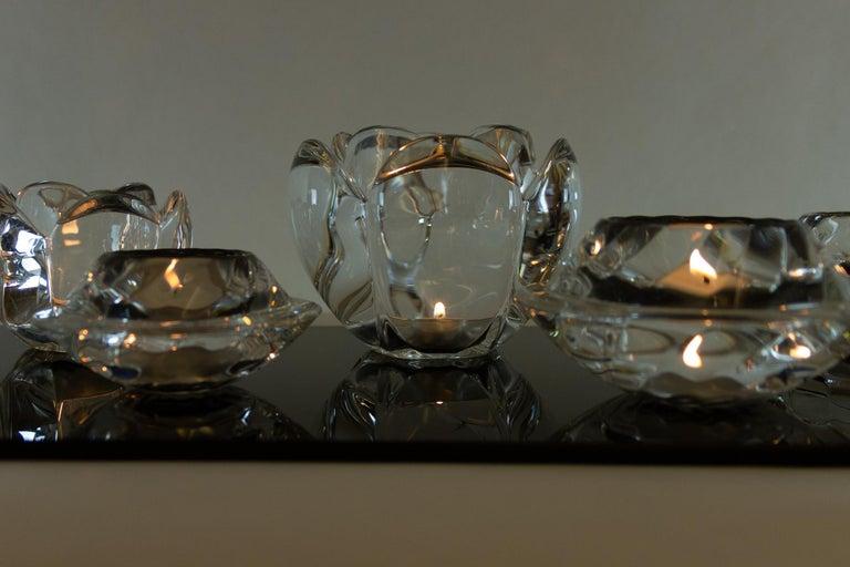 Set of 8 Holmegaard Glass Candleholders, 1980s  For Sale 3