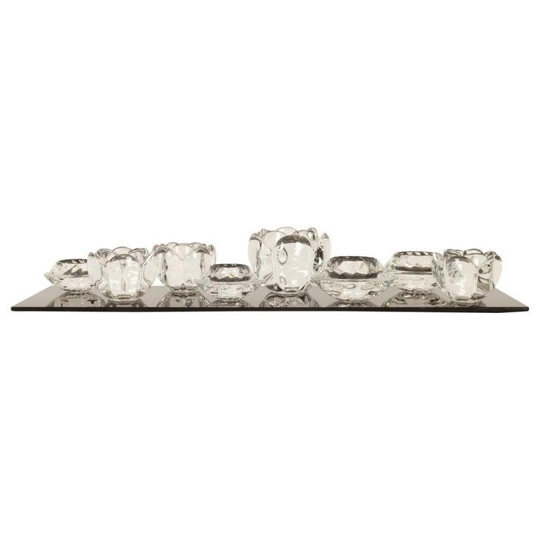 Set of 8 Holmegaard Glass Candleholders, 1980s  For Sale