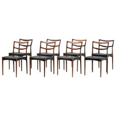 Set of 8 H.W. Klein Model 223 Dining Chairs, circa 1960