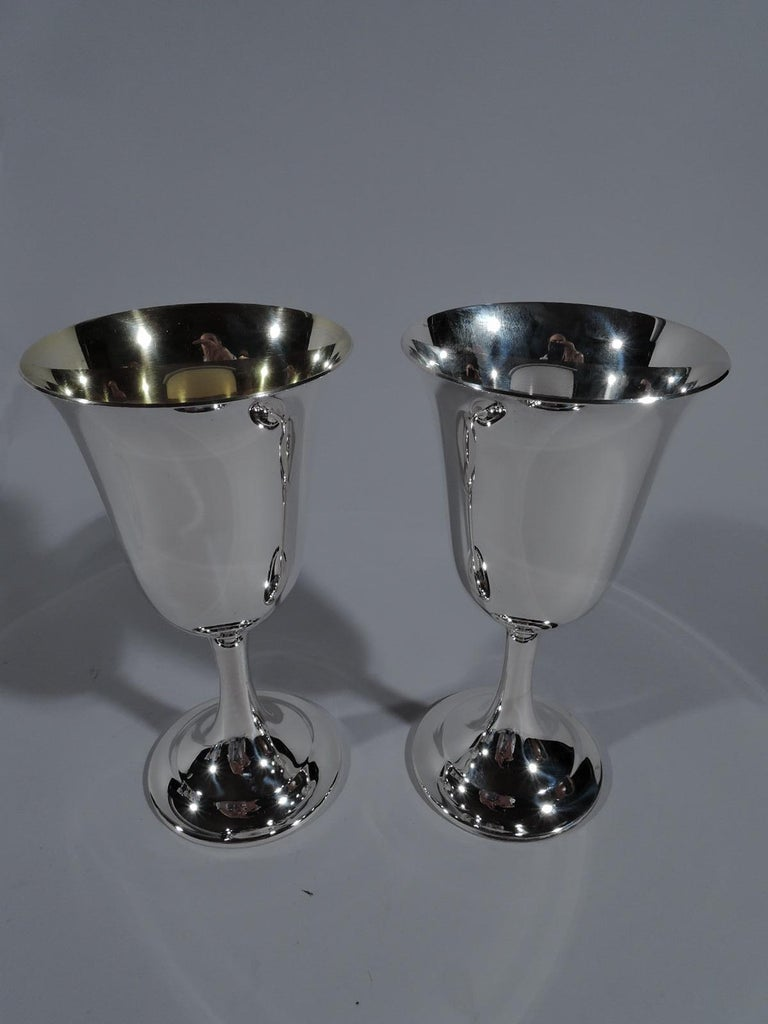 North American Set of 8 International Lord Saybrook Sterling Silver Goblets