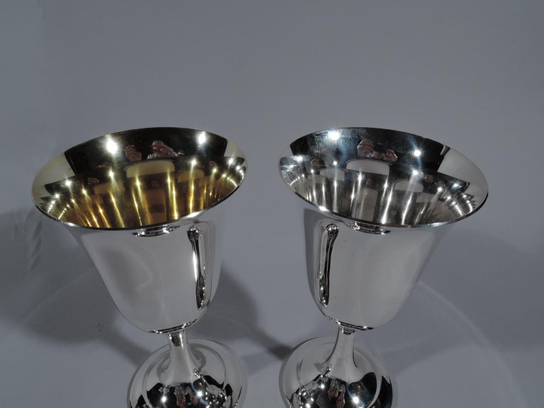 Set of 8 International Lord Saybrook Sterling Silver Goblets In Excellent Condition In New York, NY