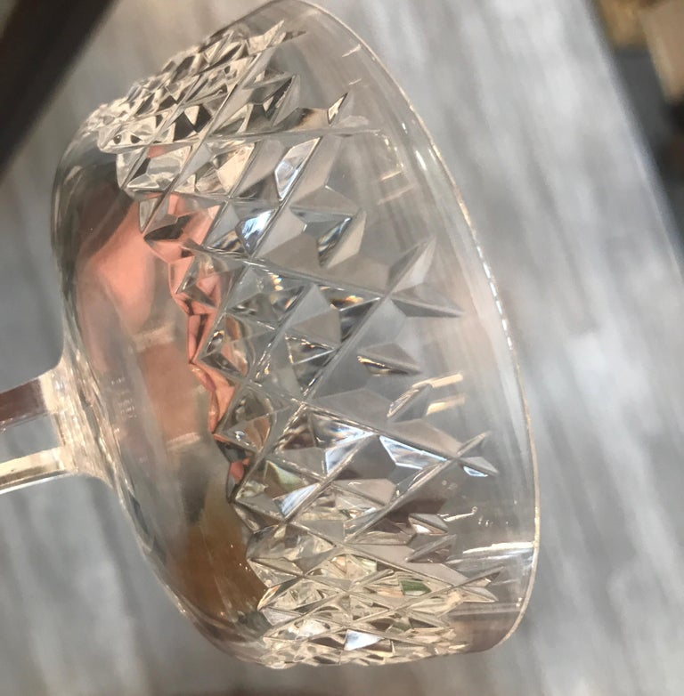 Set of 8 Irish Cut Crystal Champagne Coupes For Sale 7
