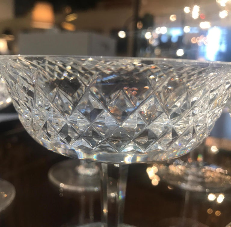 Set of 8 Irish Cut Crystal Champagne Coupes For Sale 5