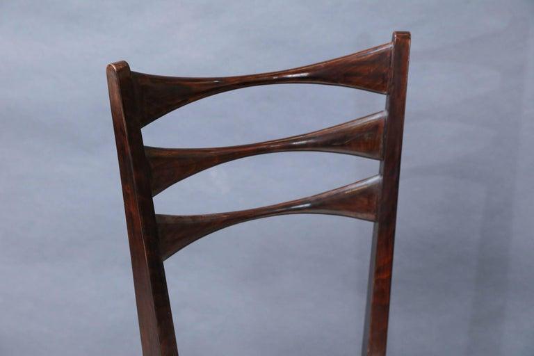 Mid-Century Modern Set of Eight Italian Midcentury Dinning Chairs For Sale