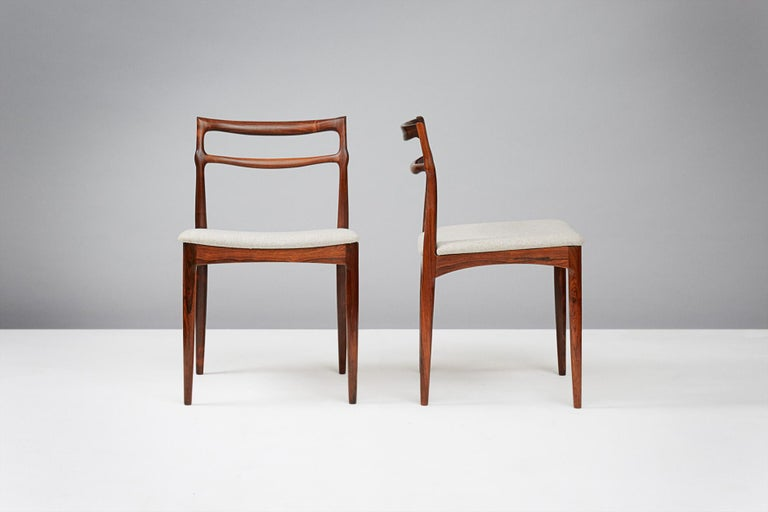 Mid-20th Century Set of 8 Johannes Andersen Rosewood Dining Chairs, 1960s For Sale