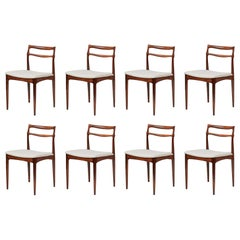 Set of 8 Johannes Andersen Rosewood Dining Chairs, 1960s