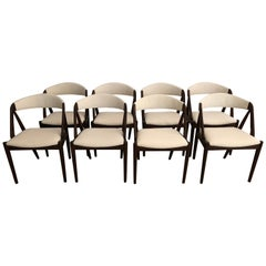 Set of 8 Kia Kristiansen Dining Chairs for Raymor Co