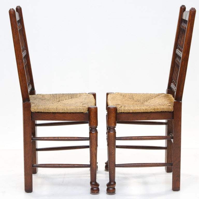 Country Set of 8 Lancashire Dining Chairs For Sale