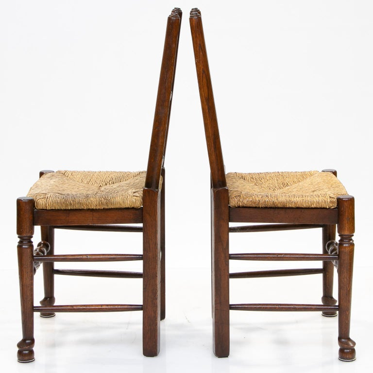 Woodwork Set of 8 Lancashire Dining Chairs For Sale