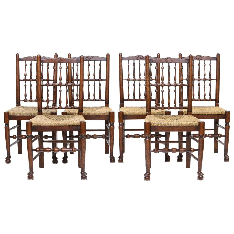 Set of 8 Lancashire Dining Chairs For Sale