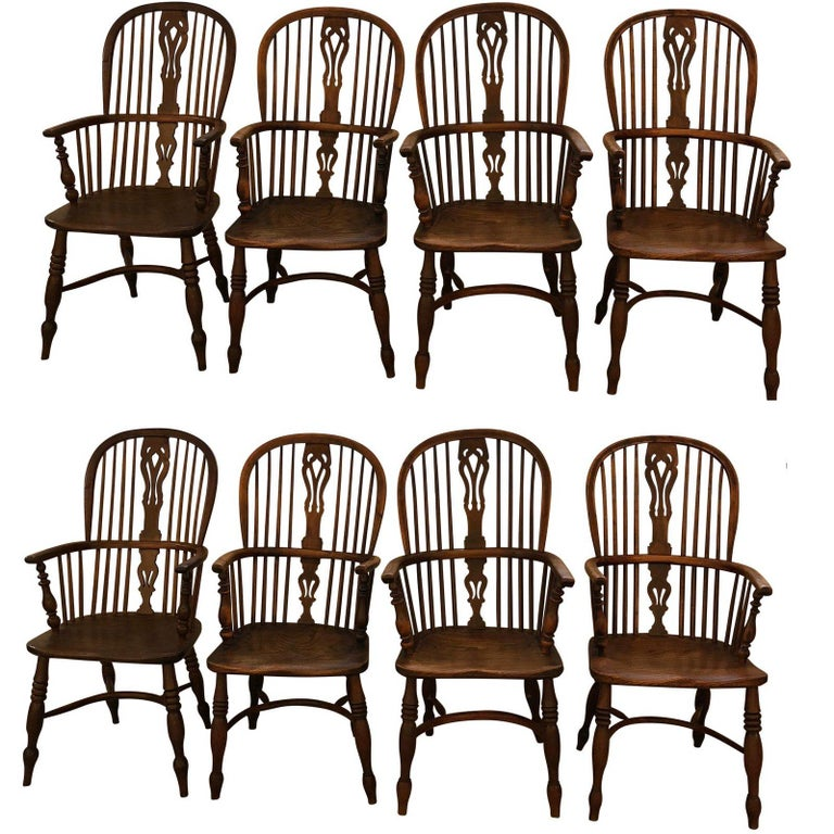 yew dining room furniture | Set of 8 Late 18th-Early 19th Century Yew Wood Dining ...