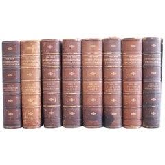 Set of 8 Leather Bound Encyclopaedia Volumes 2 through 9