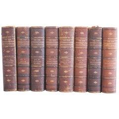 Set of 8 Leather Bound Encyclopedia