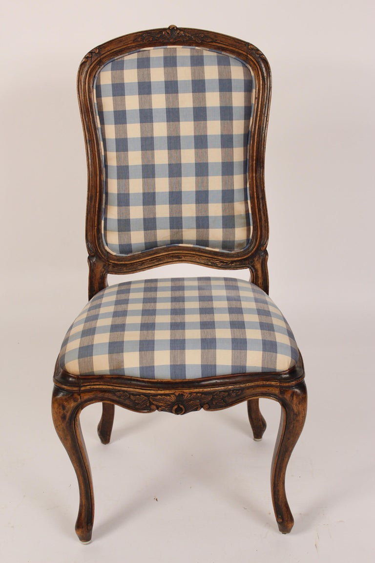 French Set of 8 Louis XV Provincial Dining Room Chairs
