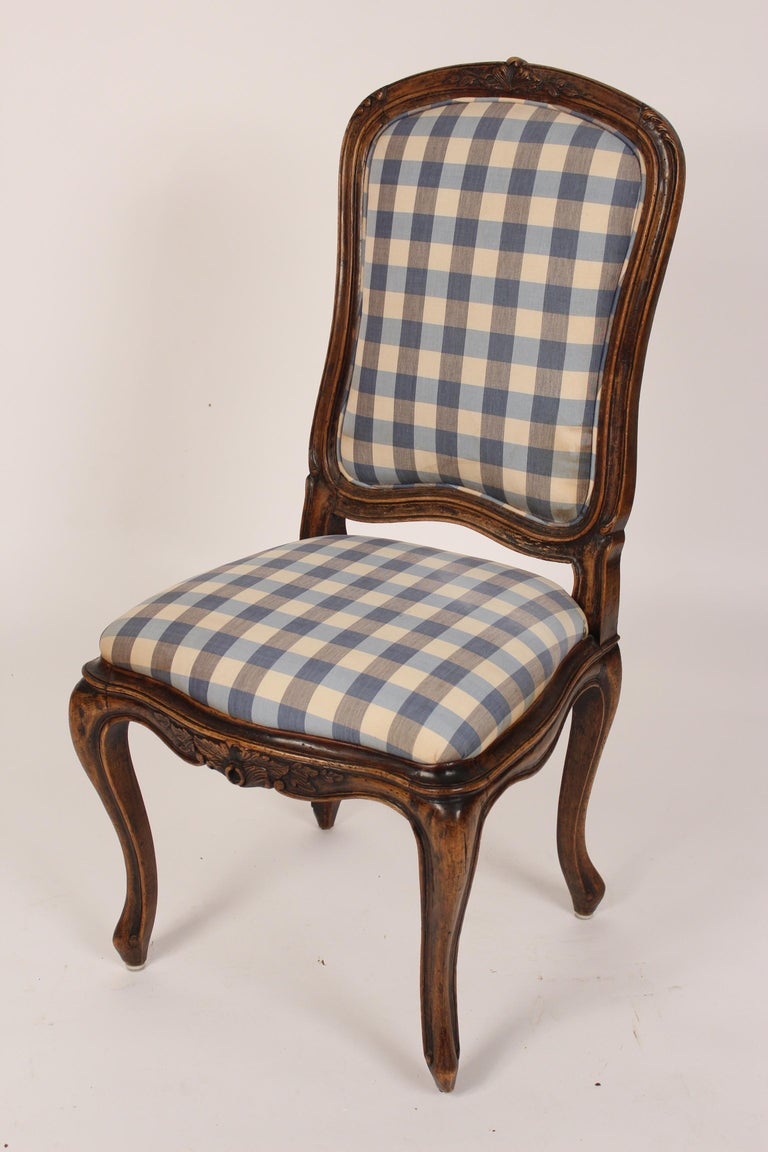 Set of 8 Louis XV Provincial Dining Room Chairs In Good Condition In Laguna Beach, CA