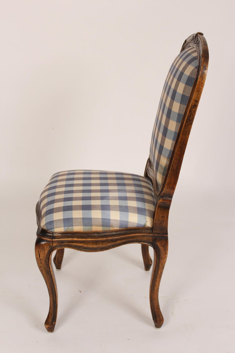19th Century Set of 8 Louis XV Provincial Dining Room Chairs