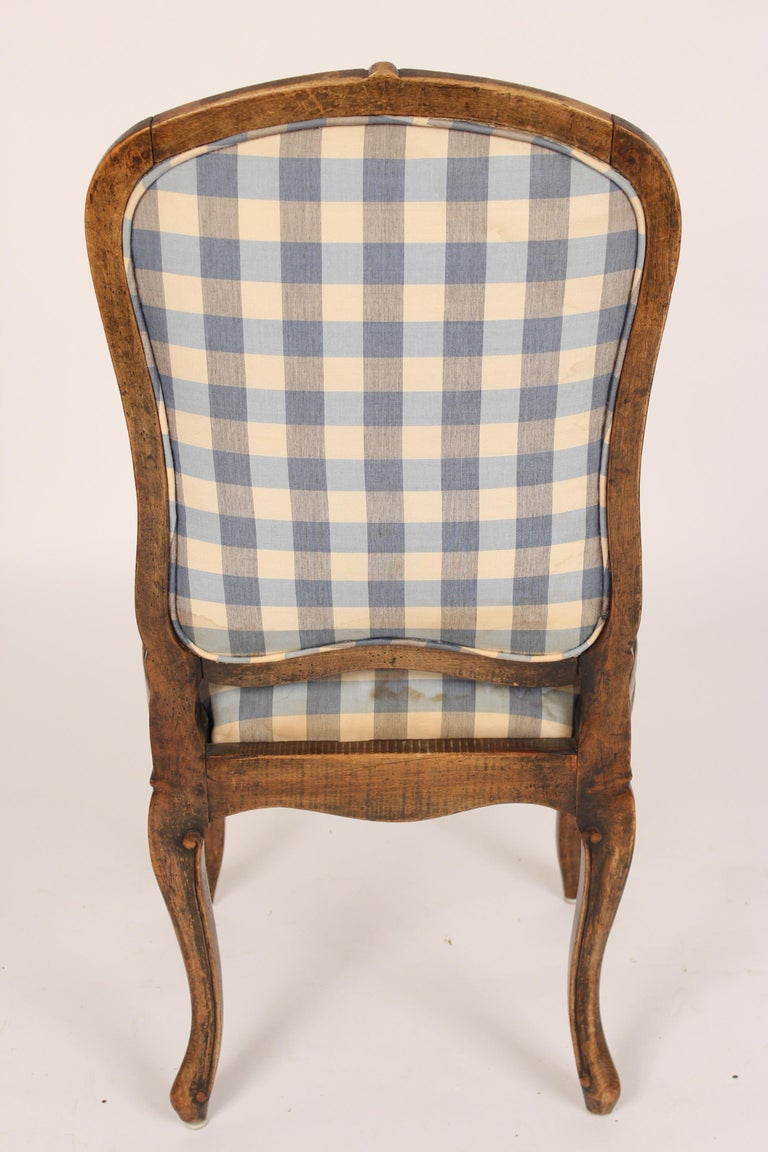 Upholstery Set of 8 Louis XV Provincial Dining Room Chairs