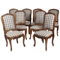 Set of 8 Louis XV Provincial Dining Room Chairs