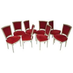 Set of 8 Louis XVI Chairs