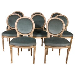 Set of 8 Louis XVI Polychrome Chairs