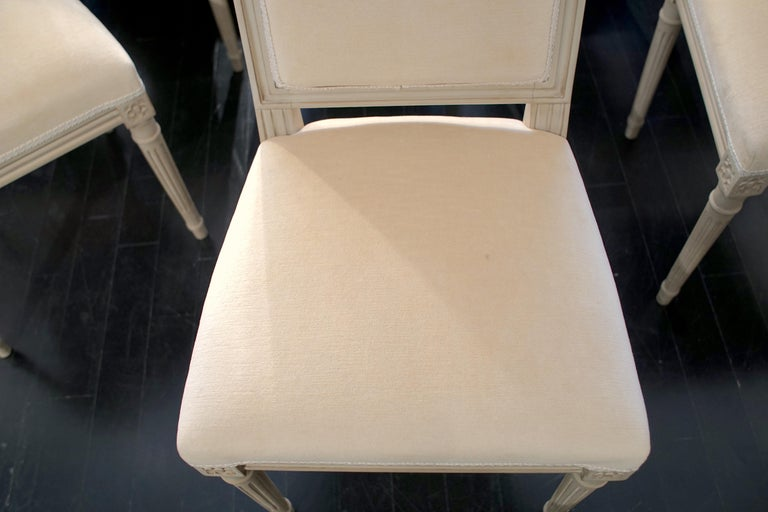 Set of 8 Louis XVI Style Chairs For Sale 5