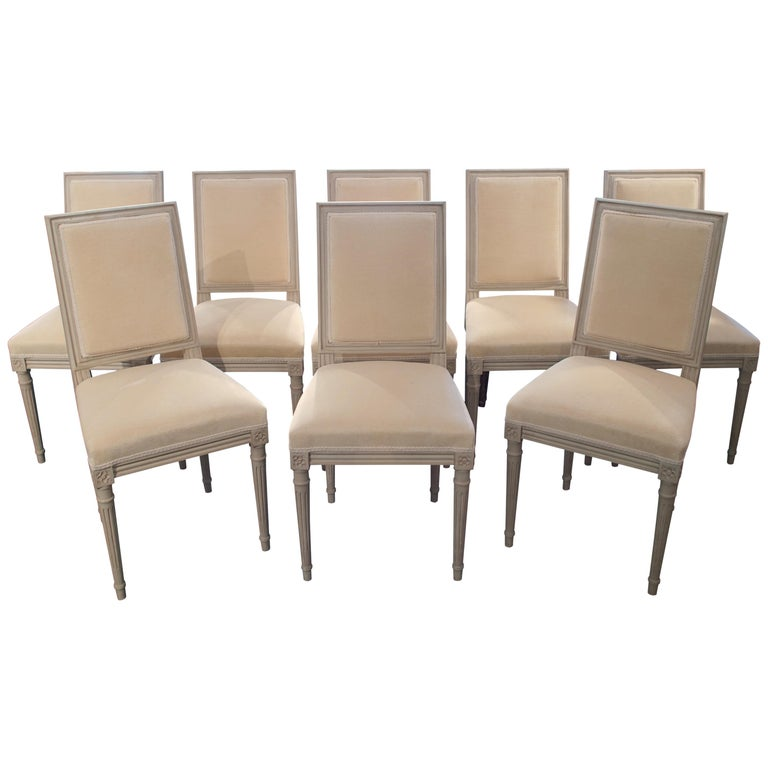 Set of 8 Louis XVI Style Chairs For Sale