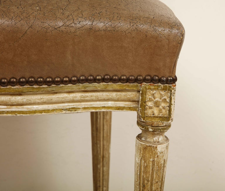Set of 8 Louis XVI Style Dining Chairs For Sale 4