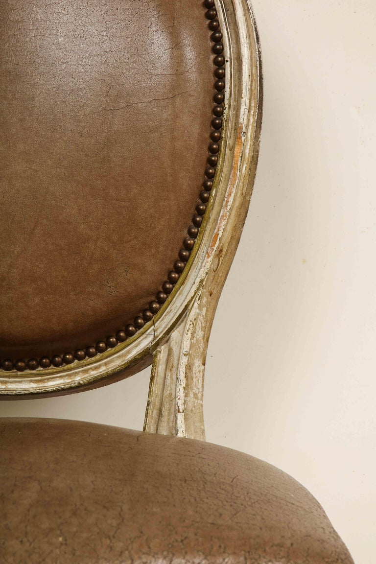Set of 8 Louis XVI Style Dining Chairs For Sale 5
