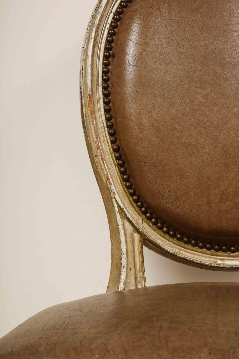 Set of 8 Louis XVI Style Dining Chairs For Sale 6