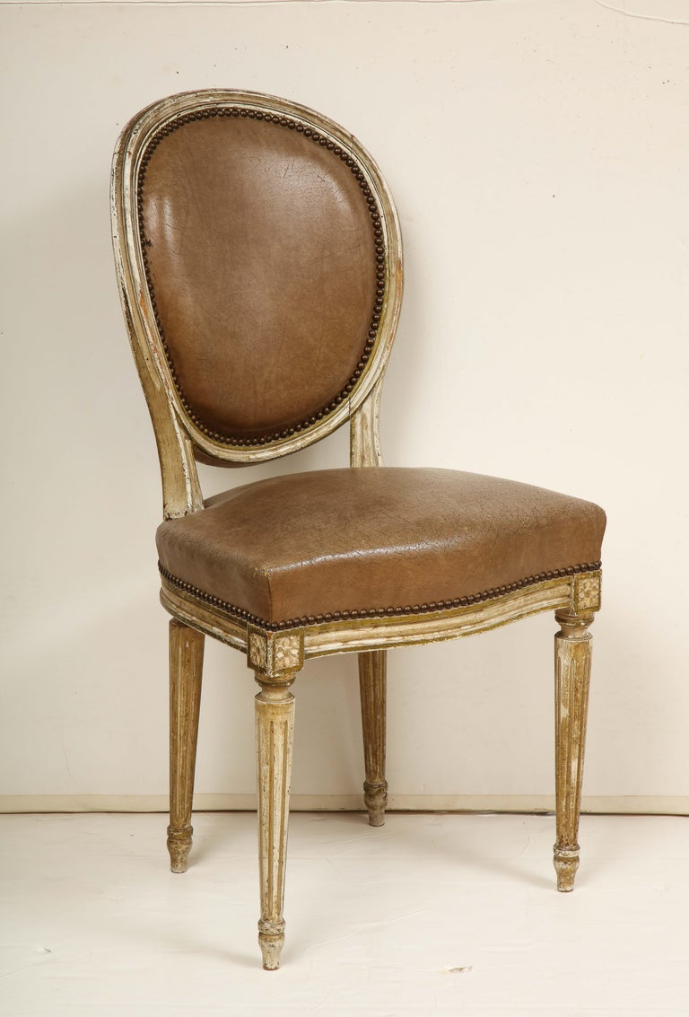 Set of 8 Louis XVI Style Dining Chairs For Sale 8