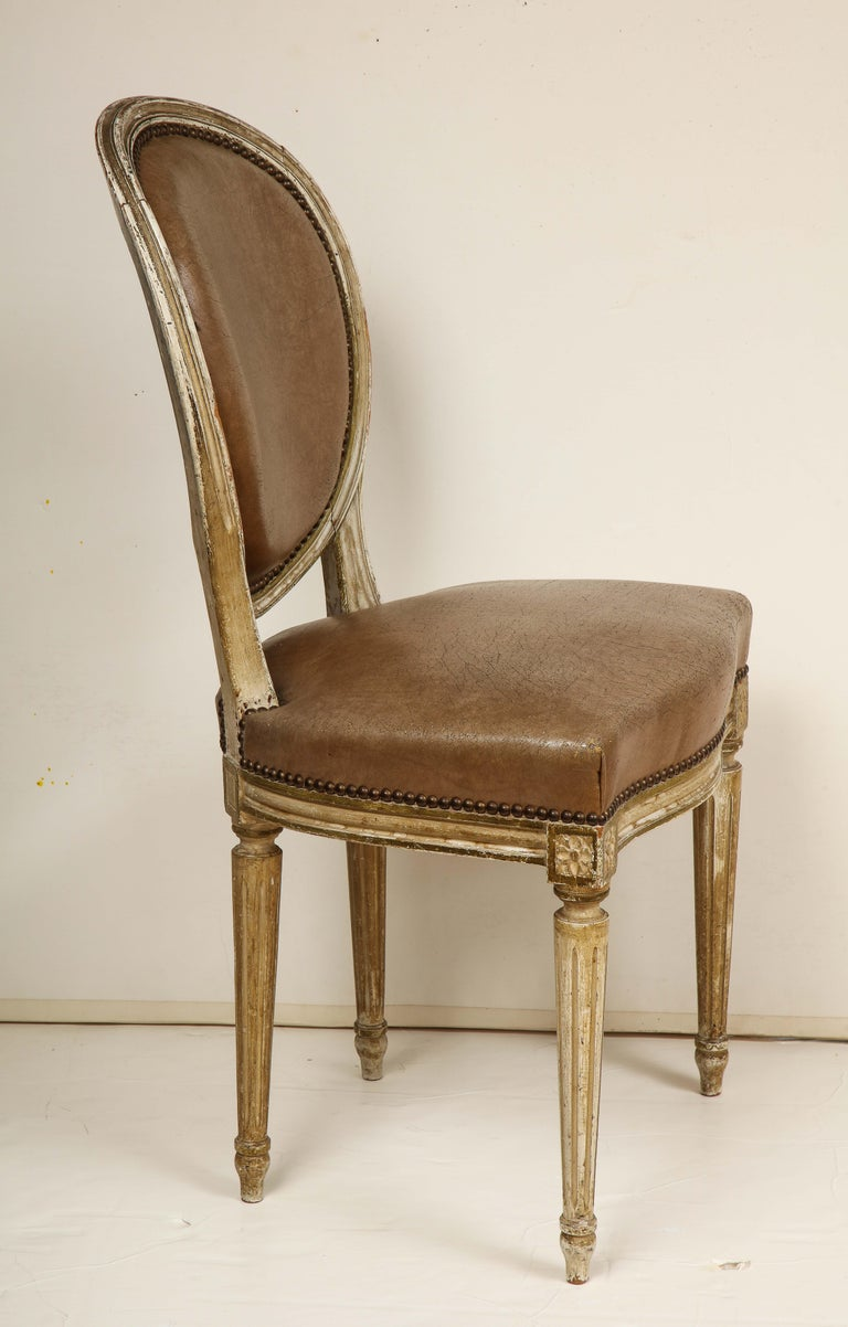 Set of 8 Louis XVI Style Dining Chairs For Sale 9